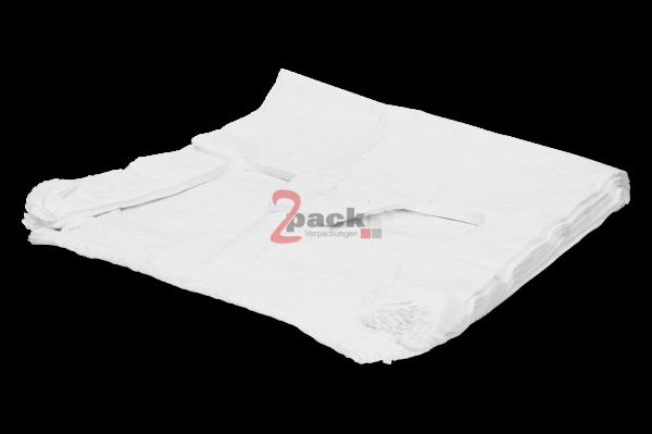 """HDPE-Shopper-Bag """"Hemdchen"""" (40+20x60cm), weiß"""