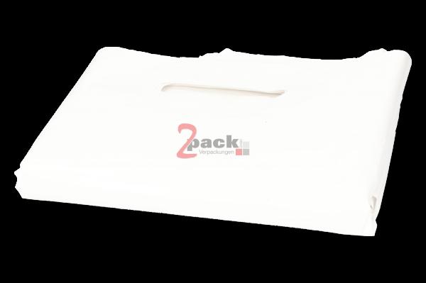 LDPE-Tragetaschen (55x60+5cm), weiß