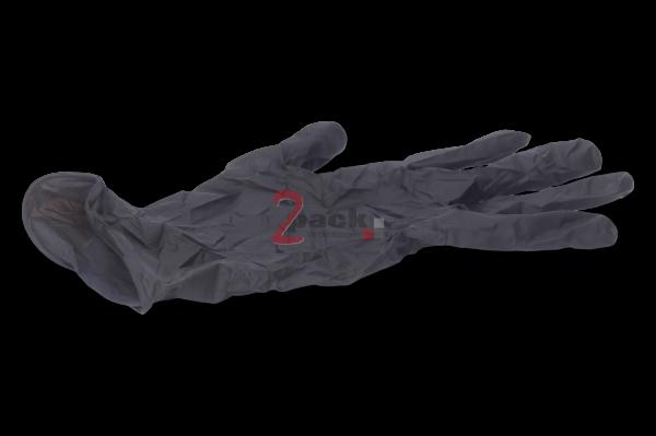 Nitril Einweghandschuhe schwarz (Finger-texturiert, puderfrei)