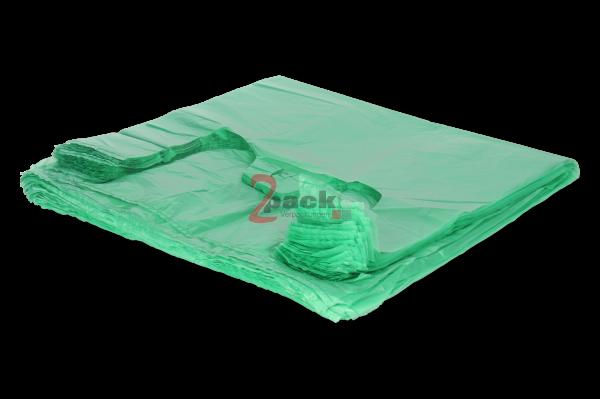"""HDPE-Shopper-Bag """"Hemdchen"""" (30+18x55 cm), grün"""