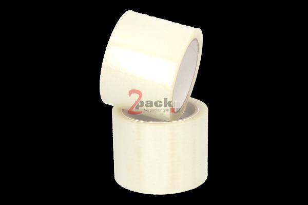 PVC Klebeband 866 (36 Rollen), transparent, widerstanadsfähig und leise abrollbar, Naturkautschukkle
