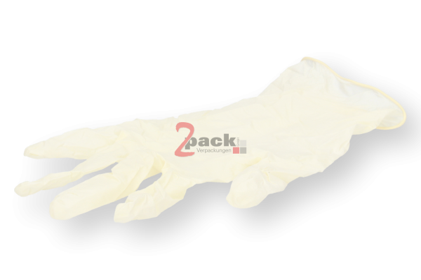 Latex Einweghandschuhe (Finger-texturiert, puderfrei)