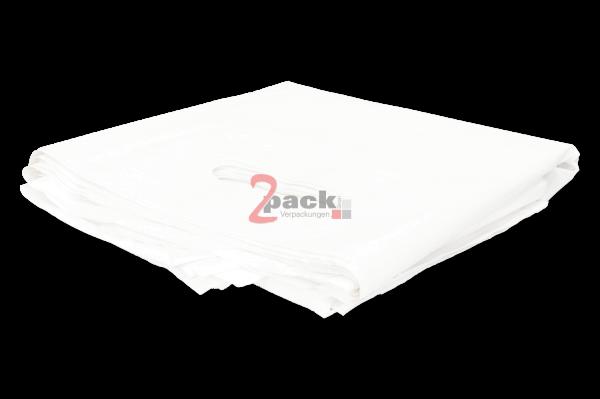 LDPE-Tragetaschen (38x45+5cm), weiß